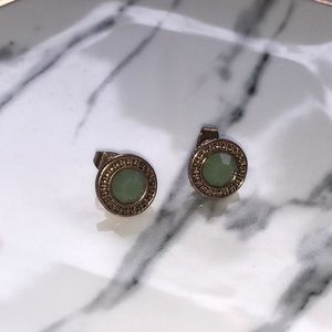 Jewelry - Mint green and gold earrings